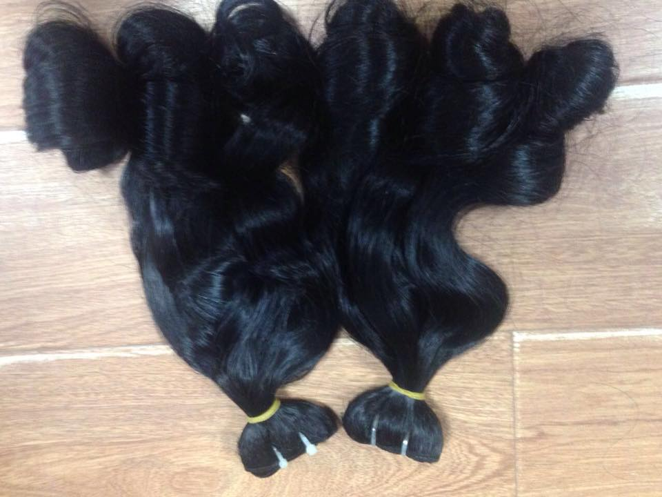 DOUBLE DRAWN WAVY HAIR WITH HIGH QUALITY