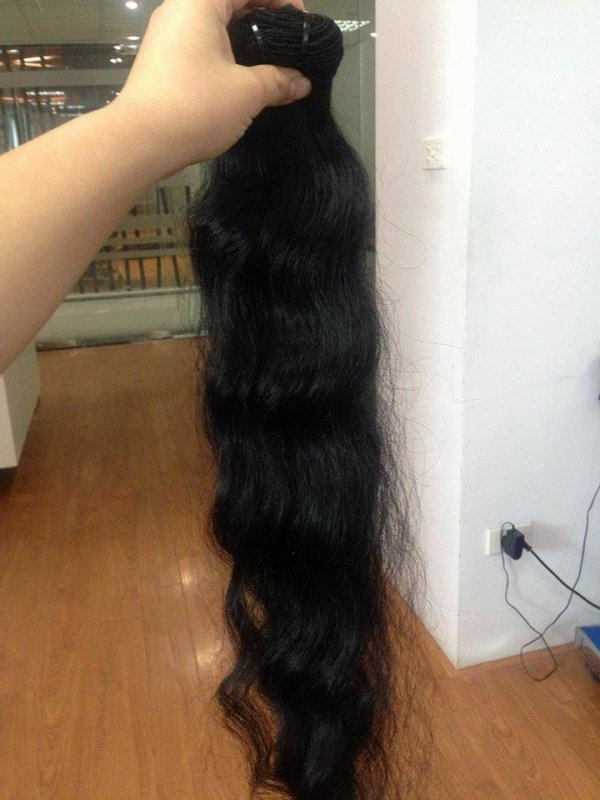 Natural cambodian wavy hair from vietnam