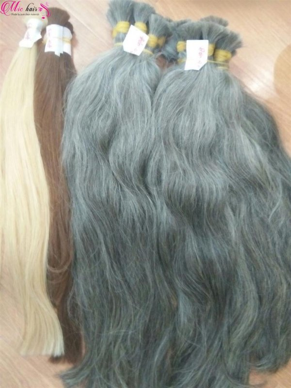 Mua Natural grey human hair from Vietnam