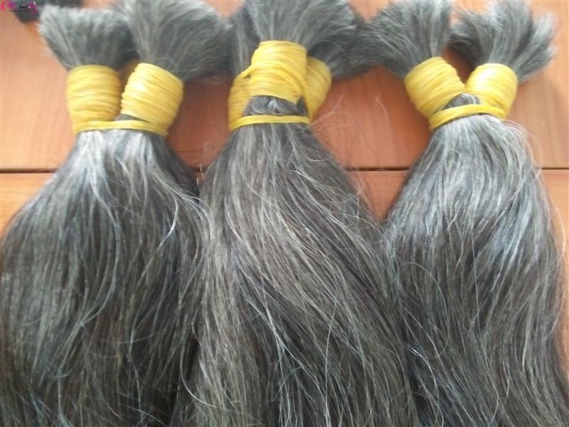 Mua Grey hair 100% unprocessed hair
