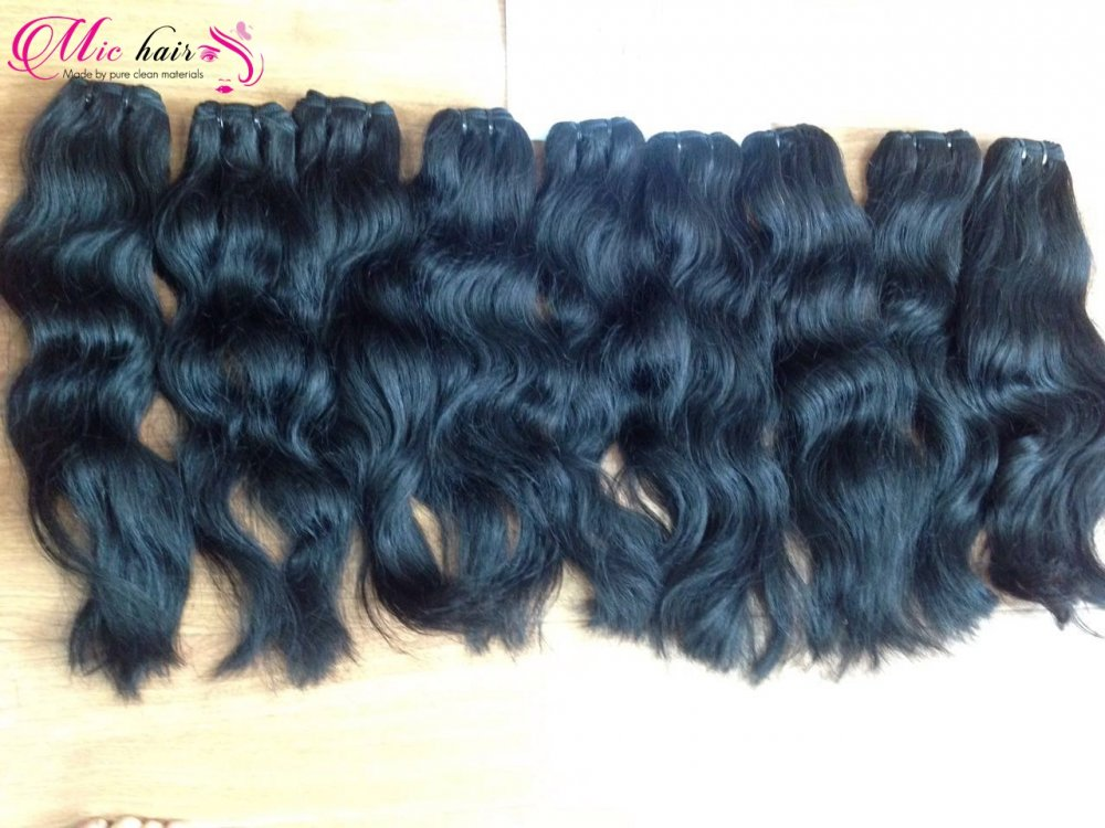 Mua Natural cambodian wavy weft hair extenstion