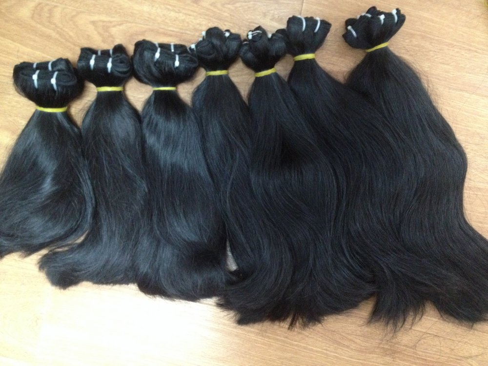 Mua THE BEST PRICE OF DOUBLE DRAWN STRAIGHT WEFT HAIR WITH HIGH QUALITY