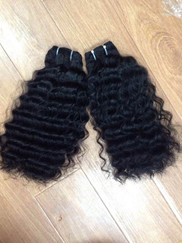 Mua Soft Human Hair Wavy Wefted Hair Extensions Remy no Tangle