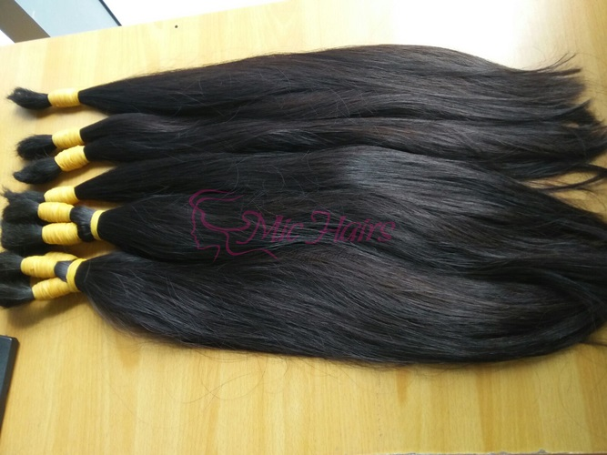 NATURAL STRAIGHT BLACK HAIR CUT FROM ONE DONOR