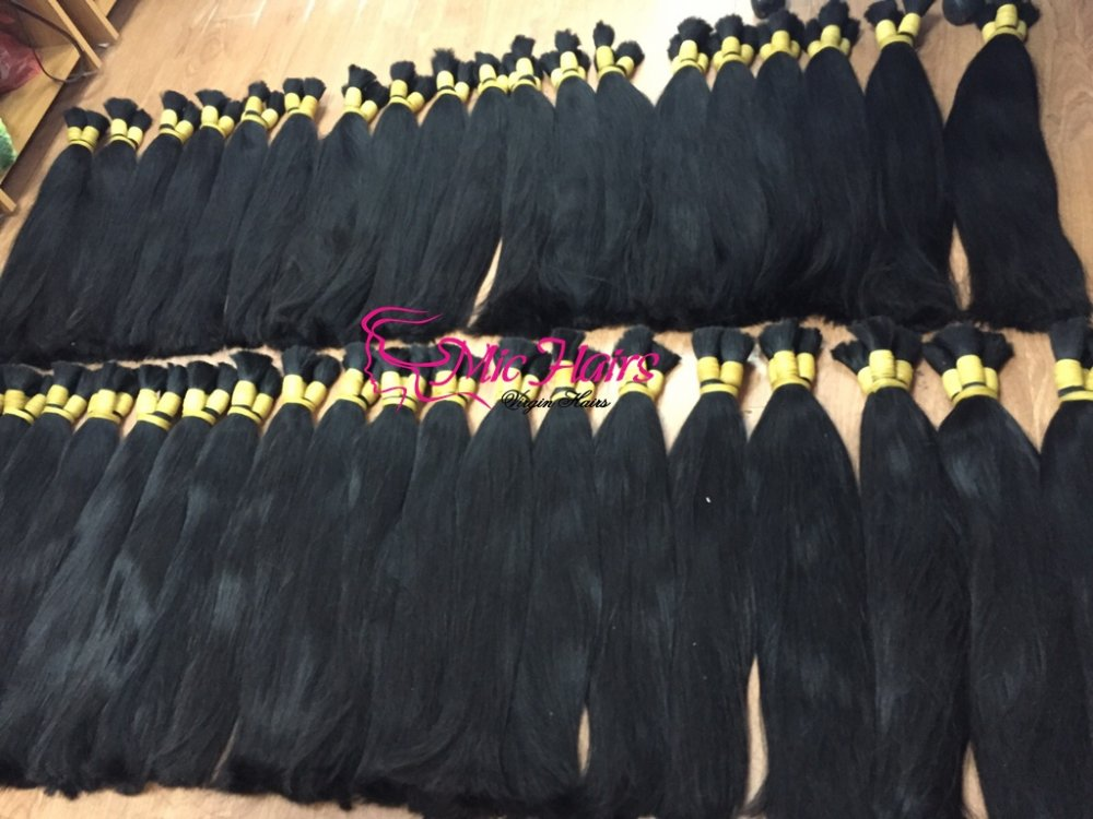 Straight Vietnamese human hair, no tangle, full cuticles high quality