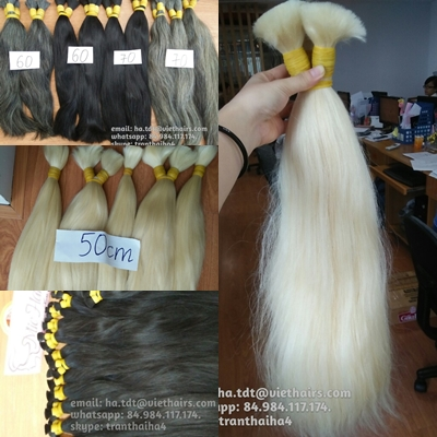 Mua Best quality natural gray human hair made in Vietnam