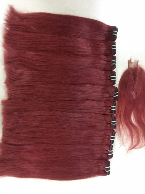 Mua 7a grade 100% silky and smoothy human remy hair bulk raw hair no tangle no mix