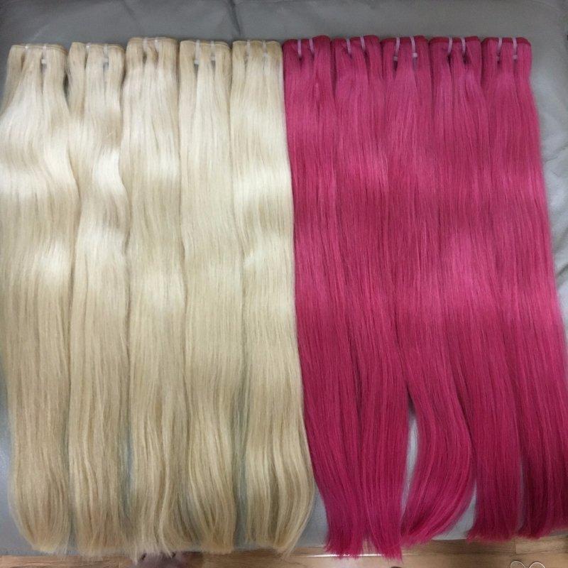 Mua Blond human hair in weave 30cm - 70cm