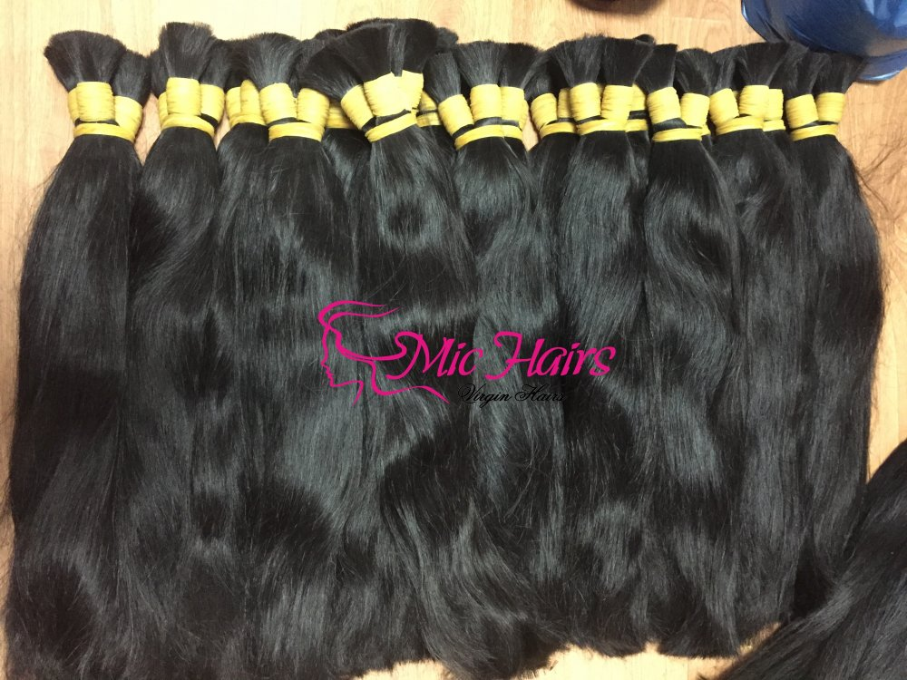 Mua Straight Bulk 100% Raw Human Hair