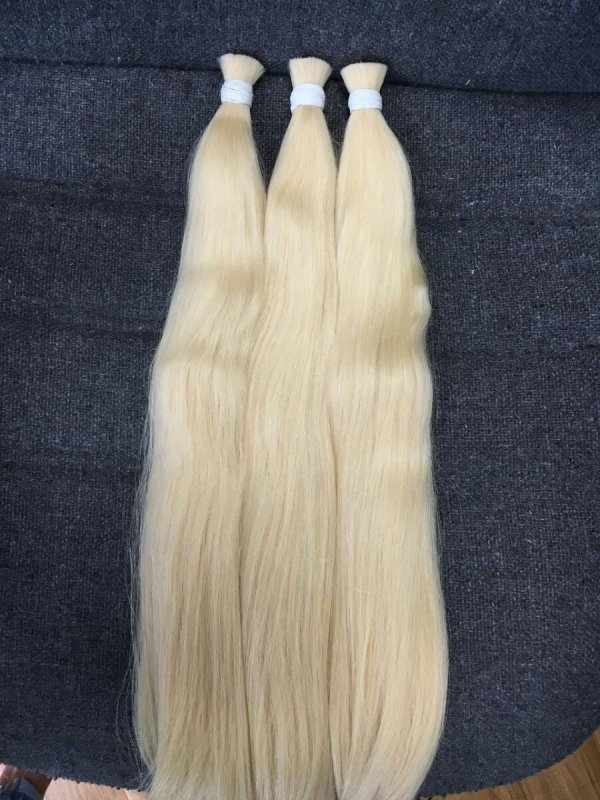 Buy Human Hair Blonde # 613 Bulk