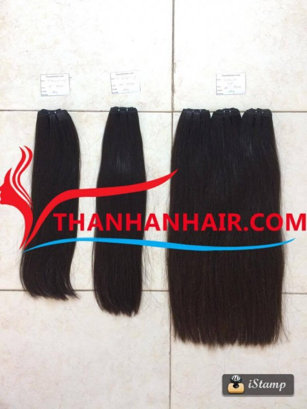 Normal double weft 100% raw Vietnamese woman hair