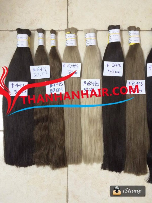 Mua  Various color straight bulk hair virgin and remy Vietnamese hair