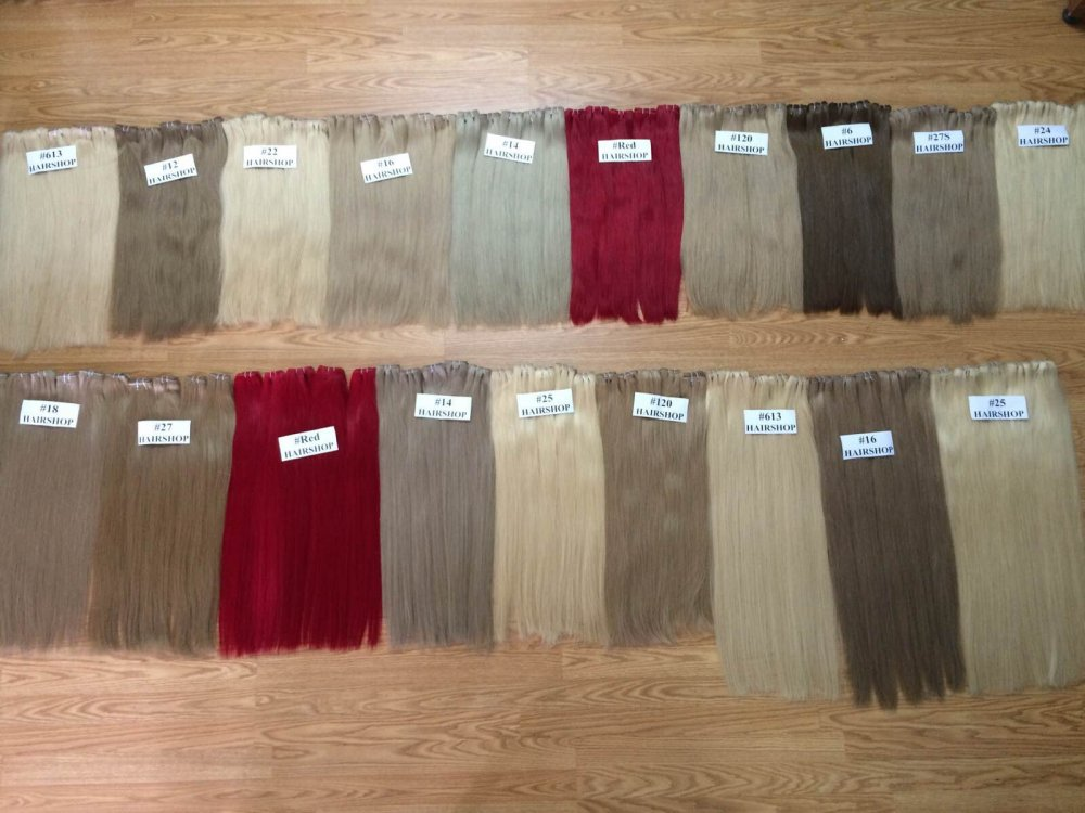 Mua Various color straight weft hair virgin and remy Vietnamese hair