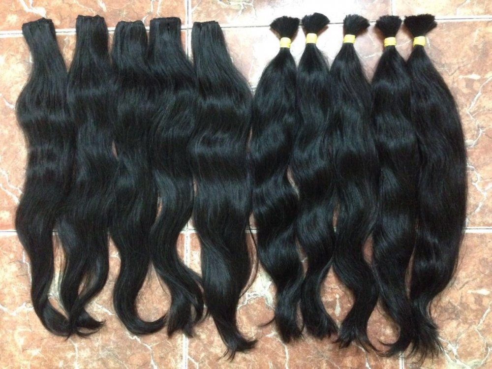 Mua Natural weft wavy color hair soft and silk hair extension