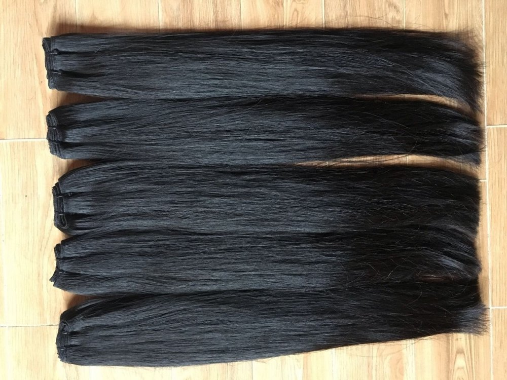 Mua 100% natural color weft hair 100% unprocessed soft straight human hair