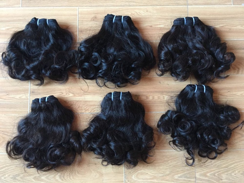 Mua Human hair very good quality 100% soft and silk Curly Virgin Hair extension