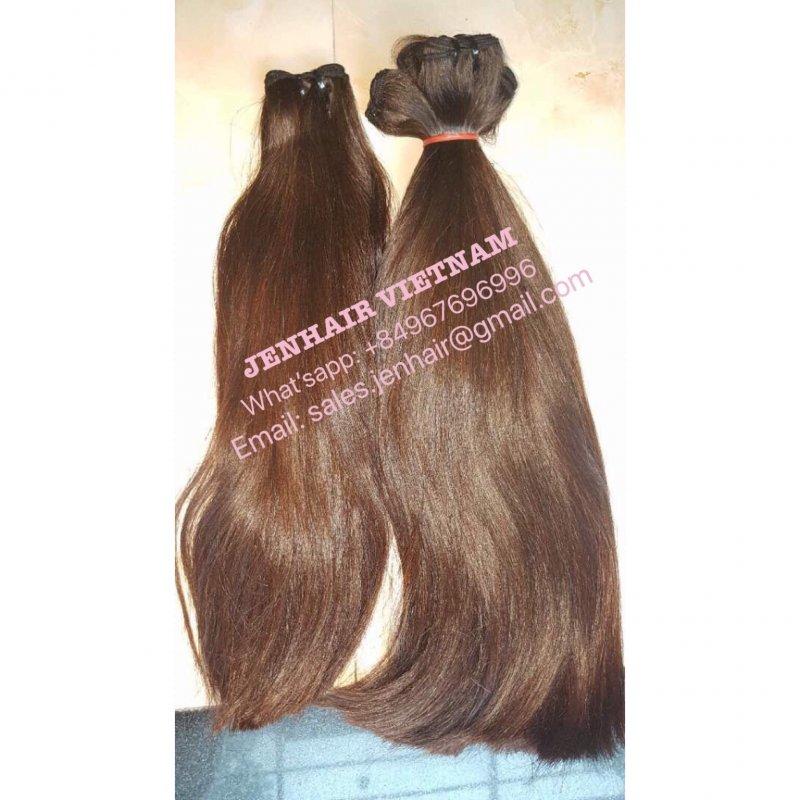 Mua Light brown straight bulk hair.