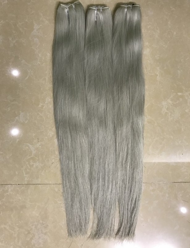 White color human hair