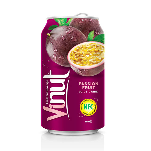 Buy Passion Fruit Juice 330ml Canned Juice Drink Supplier