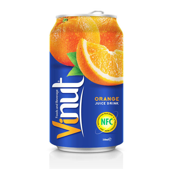 Купить 330ml Canned Fruit Juice Orange Juice Drink Wholesale