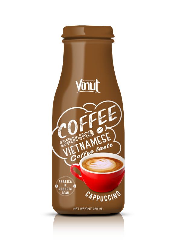 Купить 280мл Стеклянная бутылка для приготовления капучино кофе из Вьетнама