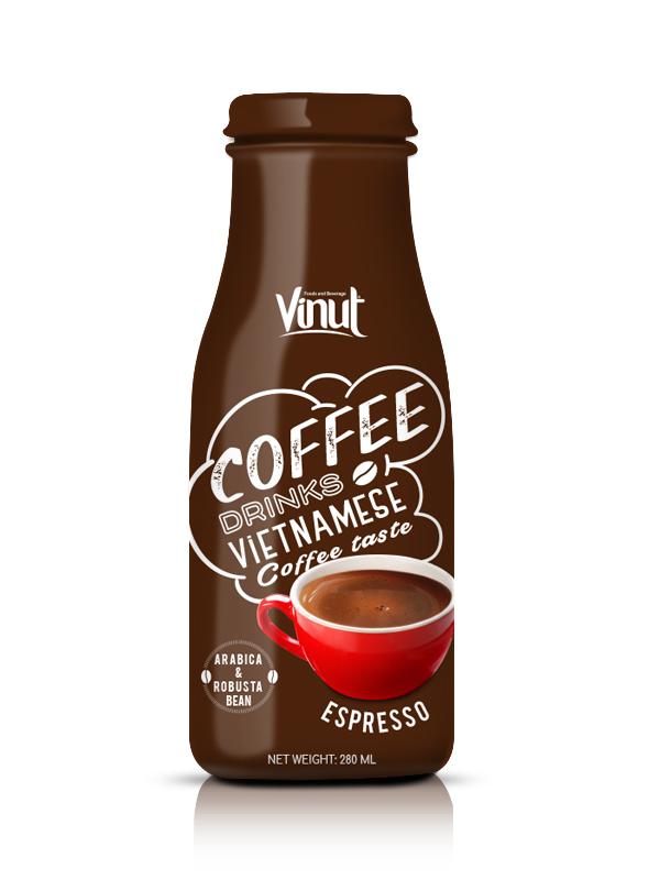 Купить Стеклянная бутылка 280мл Эспрессо кофе из Вьетнама