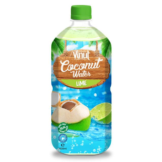 شراء الزكي 1 لتر زجاجة الحيوانات الأليفة الأصلي تألق ماء جوز الهند مع الجير