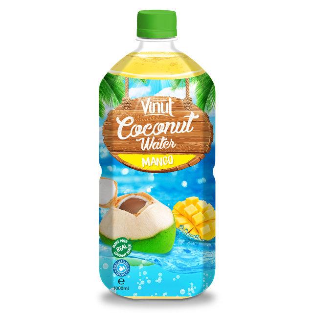 1L PET Bottle Original Sparkling Coconut Water With Mango Flavour