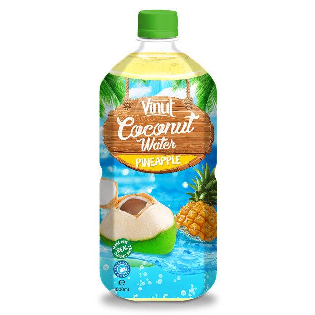 1L PET Bottle Original Sparkling Coconut Water With Pineapple Flavour