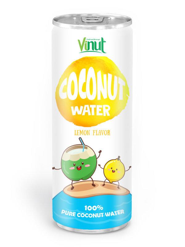 cumpără Poate de aluminiu 250 ml Natural de nucă de cocos de apă aroma lamaie