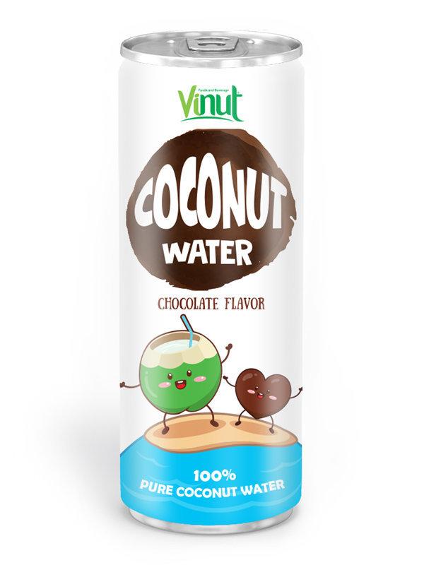 Природные Кокосовая вода 250мл Алюминий может Шоколадный вкус