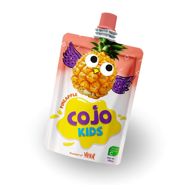 Vásárolni 100 ml-re Cojo gyerekek tasak ananász lé ital