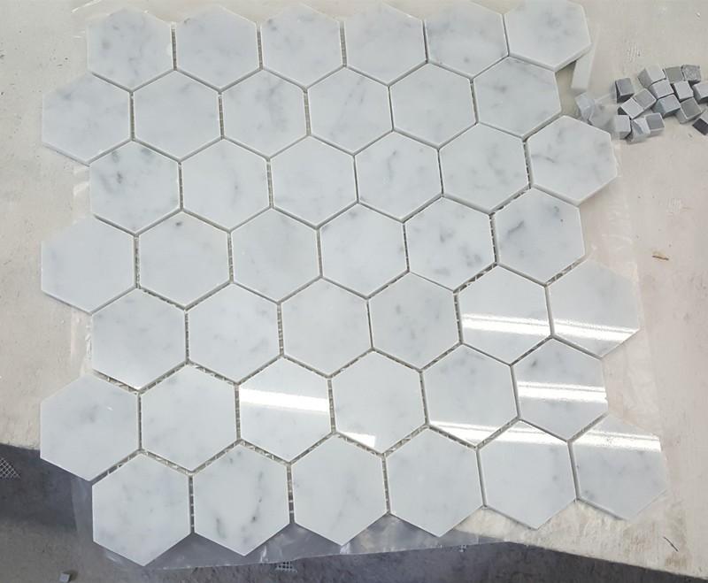 Mua White Marble Floor Water Jet Mosaic Tile