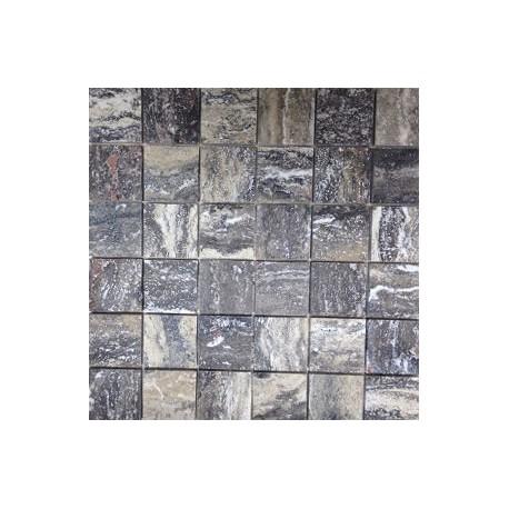 Mua Grey Honed Travertine Mosaic