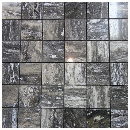 Mua Grey Polished Travertine Mosaic