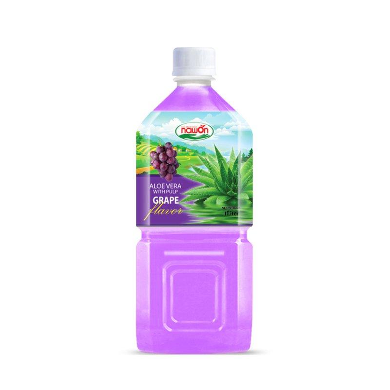 Buy Aloe vera juice Grape NAWON 1L with pulp