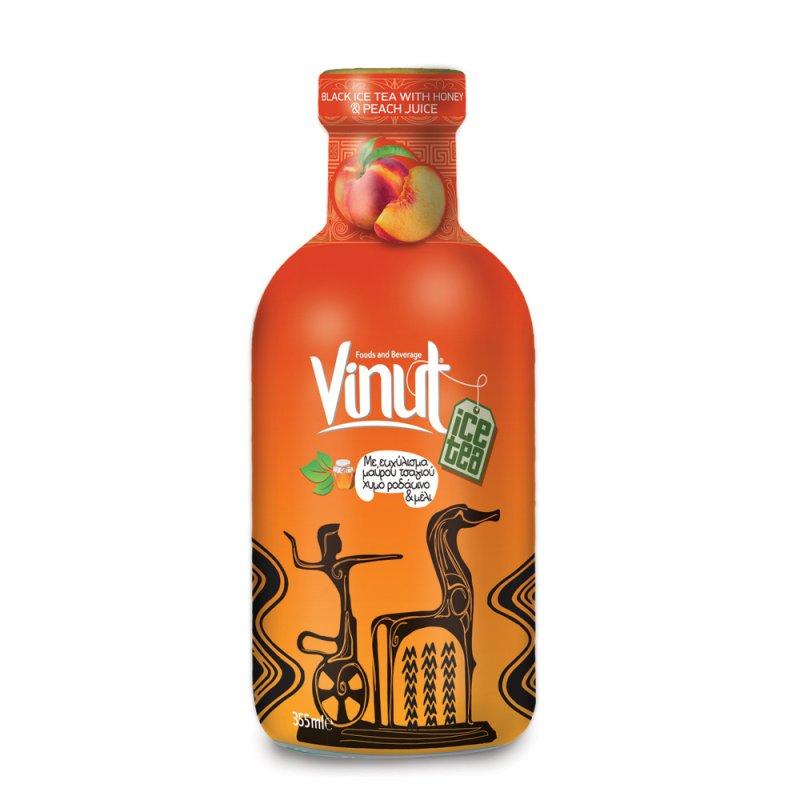 Купить Зеленая бутылка 355ml VINUT холодный чай с медом и соком персика