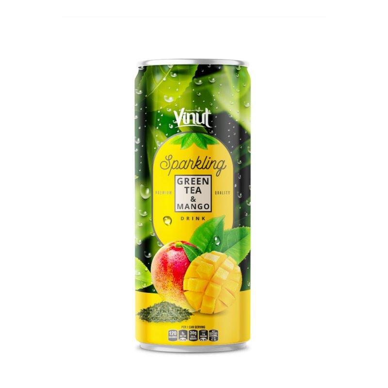 250ml VINUT Premium Black tea & Mango Sparkling water