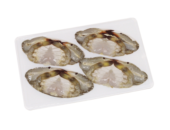 Frozen soft shell swimming crabs