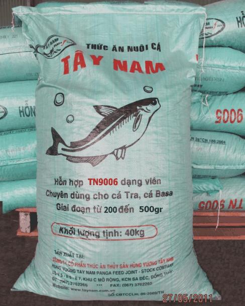 Mua TN 9006 - Thức ăn chuyên dùng cho cá tra và basa Giai đoạn từ 200-500gr