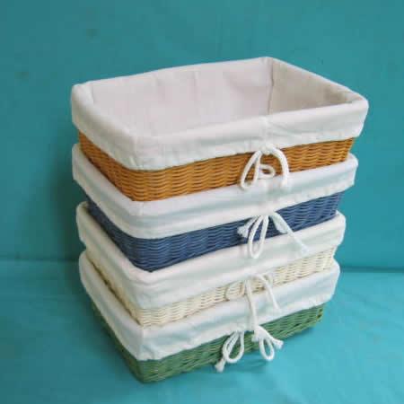 Mua Snow - white rattan basket - wicker basket