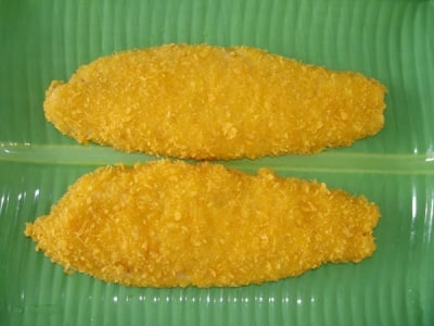 Breaded pangasius fillet