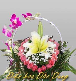 Mua Giỏ hoa Ly