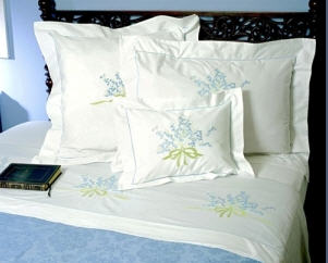 Embroidery bedding
