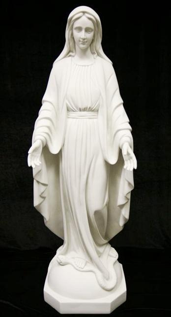 Mua Christian Mary white marble statue