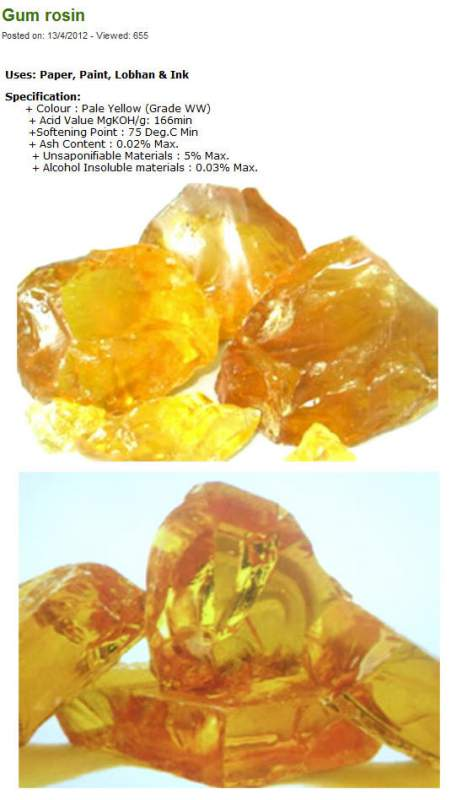 Mua Gum rosin ww and turpentine oil