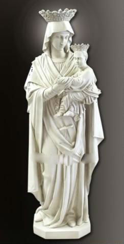 Mary and child marble statue