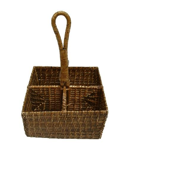 Mua 20x20xH10/28cm Wine Rattan Basket