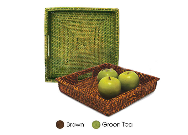 Mua Square rattan tray from Vietnam