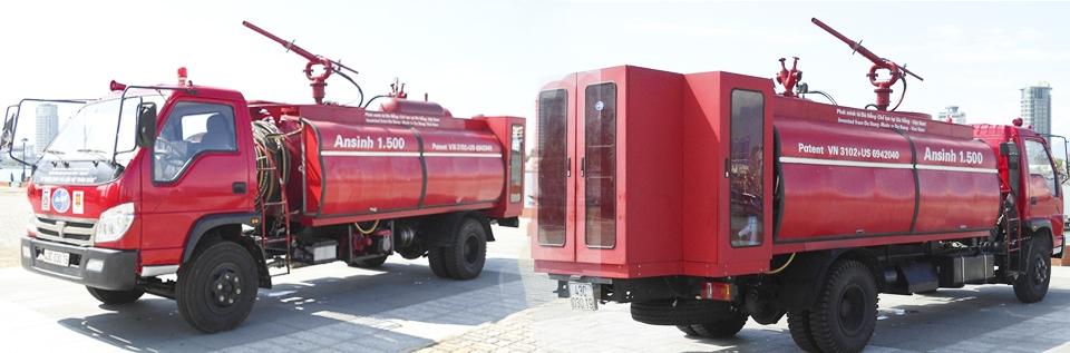 Mua Xe chữa cháy, công nghệ hàng đầu thế giới, không cần nổ máy động cơ khi chữa cháy.